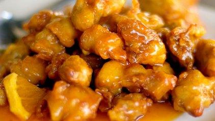 Μπουκιές κοτόπουλου με πορτοκάλι και μέλι