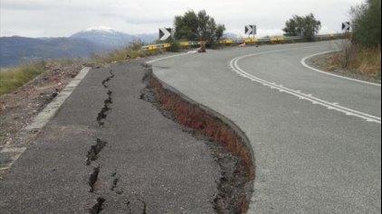 Κλειστός λόγω καθίζησης ο δρόμος Ποταμιά – Λιαντίνα Λακωνίας