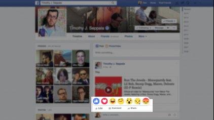 Κουμπί Reactions στο Facebook