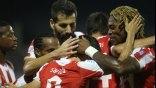 """Ο Ολυμπιακός """"πυροβολώντας"""" στα τελευταία λεπτά συνέτριψε το Λεβαδειακό με 5-0"""