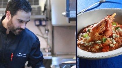 Ριζότο γαρίδες σαγανάκι από τον σεφ Γιάννη Λουκάκο