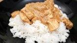 Φιλετάκια κοτόπουλο με σάλτσα ούζου και ρύζι basmati