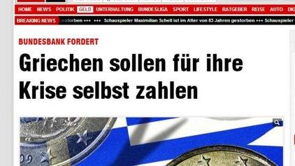 Προκαλεί πάλι η Bild: Οι Έλληνες έχουν περισσότερα χρήματα από τους Γερμανούς