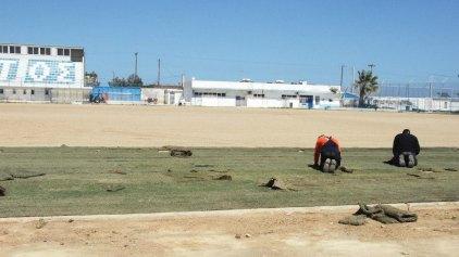 «Πρασινίζει» το γήπεδο του Ηροδότου (photos)