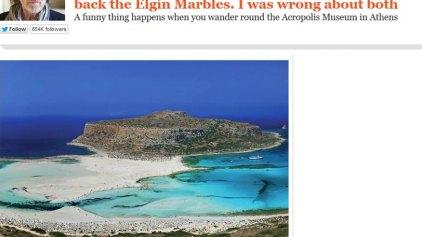 «Τα Ελγίνεια μάρμαρα δεν ανήκουν σε μας» γράφει ο Βρετανός συγγραφέας Χ.Τζέικομπσον