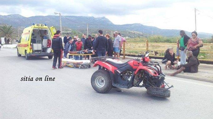 Τραυματίστηκε στη Σητεία, μεταφέρθηκε στο Ηράκλειο