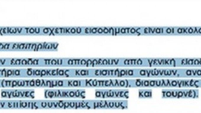Επίθεση στον ΠΑΟ για ''φοροδιαφυγή 3,5 εκατ. ευρώ''