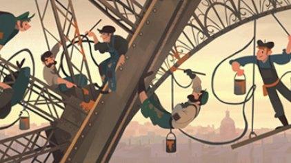 Η Google τιμά τα εγκαίνια του Πύργου του Άιφελ
