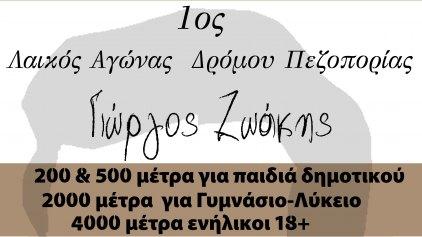 """Αγώνας δρόμου πεζοπορίας """"Γιώργος Ζωάκης"""" από τον Πολιτιστικό Σύλλογο Κουνάβων"""