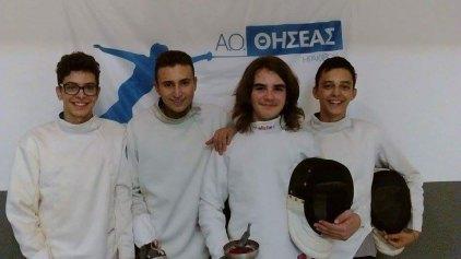 Με 5 αθλητές στο Κύπελλο Εφήβων του Ξίφους Μονομαχίας ο Α.Ο ΘΗΣΕΑΣ