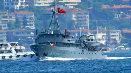 """«Βόλτα» του τουρκικού υδρογραφικού """"Τσεσμέ"""" μεταξύ Λέσβου και Χίου"""