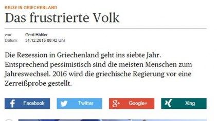 Handelsblatt: «Μαύρες» οι προβλέψεις για την Ελλάδα το 2016