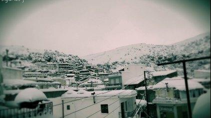 Χιονισμένη Πρωτοχρονιά στην Κρήτη !