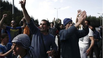 Πέτρες κατά αστυνομικών στην Ειδομένη