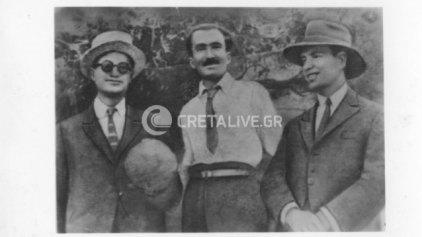 Ο Νίκος Καζαντζάκης το 1924, στο πανηγύρι της Αγίας Μαρίνας