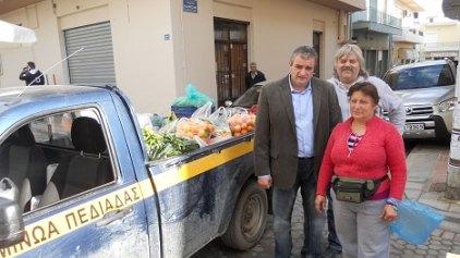Διανομή τροφίμων στο Δήμο Μινώα Πεδιάδος