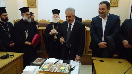 Πρωτοχρονιάτικη βασιλόπιτα σε Περιφέρεια και Δήμο Ηρακλείου
