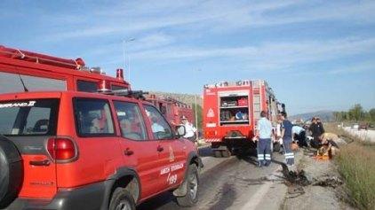 Τροχαίο ατύχημα, το πρωί, στην Εθνική Οδό