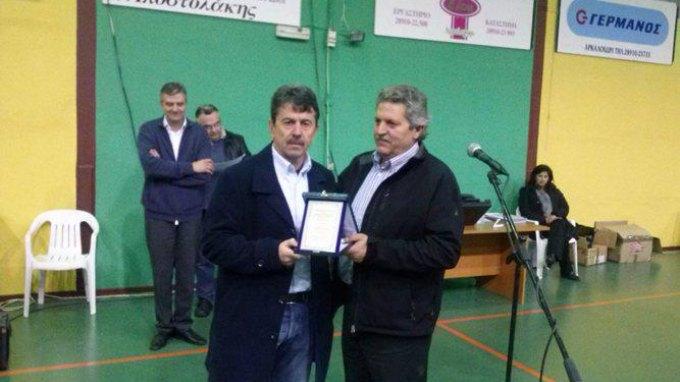 Τον Γ.Πετράκη τίμησε ο Αθλητικός Οργανισμός του Δήμου Μινώα Πεδιάδος