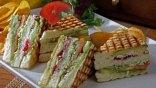 Club Sandwich για νηστεία και χορτοφάγους με χειροποίητα chips!