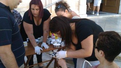 Σάκχαρο, χοληστερίνη, τριγλυκερίδια και πίεση μέτρησαν οι εθελοντές νοσηλευτές