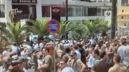 Ξέσπασε οργή -Δημοτικοί αστυνομικοί περικύκλωσαν τα γραφεία της ΝΔ